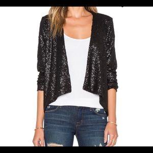 New w tags.Amuse Society black mattesequin jacket